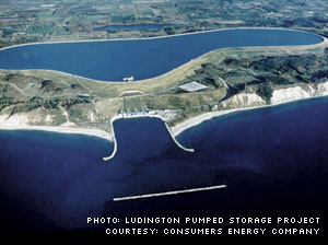 Ludington Pumped Storage Project, Courtesy:  Consumers Energy Company